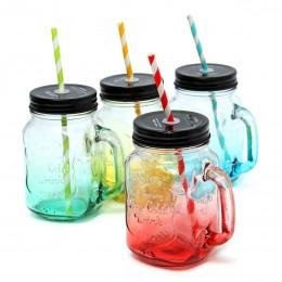 Набор из 4 стеклянных банок Mason Jar Colors. Больше фото в интернет-магазине подарков podario.com