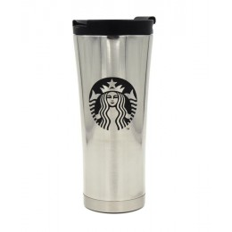 Тамблер с логотипом Starbucks, Серебро, 500 мл