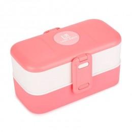 """Ланч бокс """"Look Back"""" розовый, 1200 мл. Больше фото фото в интернет-магазине подарков podario.com"""