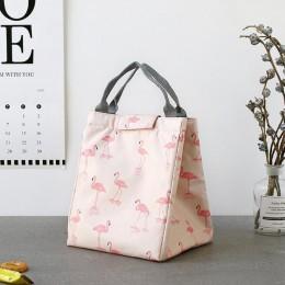 Сумка для ланча (lunch bag) Фламинго, на липучке. Больше фото фото в интернет-магазине подарков podario.com