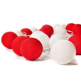"""Гирлянда """"Red&White"""" 20 шт.. Больше фото в интернет-магазине подарков podario.com"""