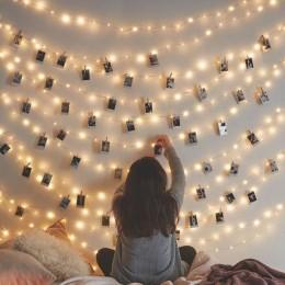 Гирлянда Прищепки, 50 лампочек от батареек. Больше фото фото в интернет-магазине подарков podario.com