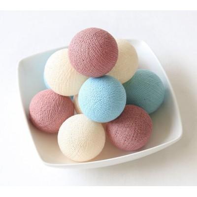 """Тайская гирлянда CBL """"Rosy&Blue"""" 20 шариков, 3.7 м"""