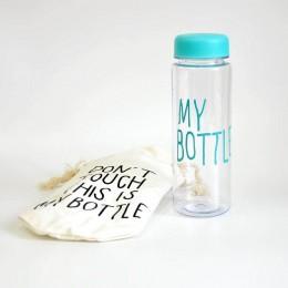 "Бирюзовая бутылка ""My Bottle"" с чехлом"