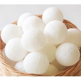 Тайская гирлянда на 10 шариков CBL Белая, 2.6м