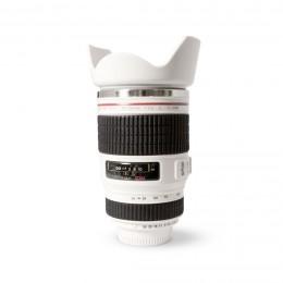 """Термокружка - объектив Canon 24-105 """"Lens"""" белая"""