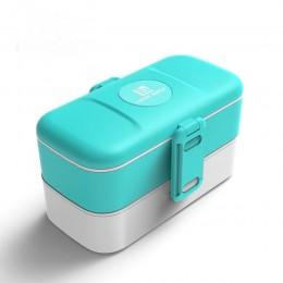 """Ланч бокс """"Look Back"""" голубой, обьем 1200 мл. Больше фото фото в интернет-магазине подарков podario.com"""