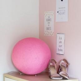"""Оригинальная настольная круглая лампа """"Розовый"""""""