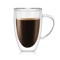 Стеклянная чашка с двойными стенками, 450 мл