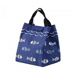 """Термосумка (ланч бэг) """"Lunch Bag Fish"""", синий. Больше фото фото в интернет-магазине подарков podario.com"""