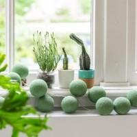 Тайская гирлянда шарики-фонарики CBL Sage Green 20 шт, 3.7 м