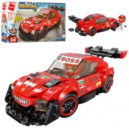 Детский конструктор Qman 4201-2 Гоночная Машина Mine City, 202 деталей