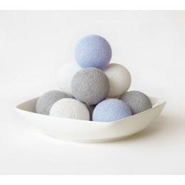Гирлянда из ниточных шариков CBL Lavender Grey 20 шт, 3.7 м