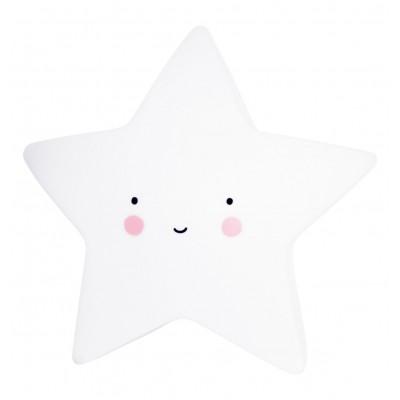 Ночник в виде звёздочка, маленький, белый