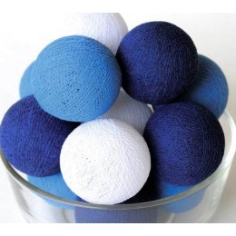 Тайская гирлянда на 10 шариков от батареек CBL Синяя, 2.6м
