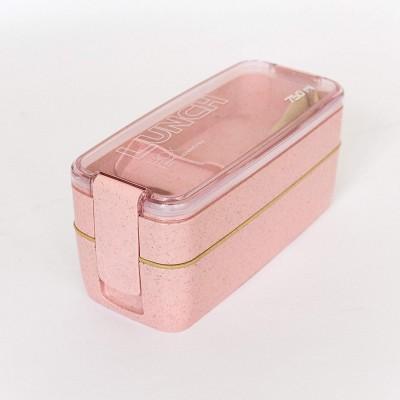 """Эко ланч-бокс """"Lunch Box 750 ml"""", розовый. Больше фото фото в интернет-магазине подарков podario.com"""