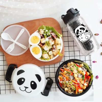 """Комплект бутылочка для воды и ланчбокс """"Панда"""". Больше фото фото в интернет-магазине подарков podario.com"""
