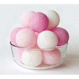 Тайская гирлянда на 10 шариков от батареек CBL Baby Pink, 2.6м