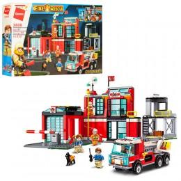 Большой детский конструктор Qman 2808 Пожарный участок, 523 дет