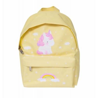 Рюкзак с единорогом, маленький, желтый