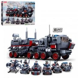 Конструктор Sluban M38-B0927 Военный транспорт 6в1, 557 деталей