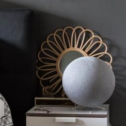 """Настольная лампа из гигантского ниточного шара """"Серый"""". Больше фото фото в интернет-магазине подарков podario.com"""