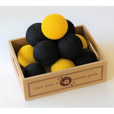 """Гирлянда """"Black&Yellow"""" 20 шт.. Больше фото в интернет-магазине подарков podario.com"""