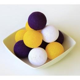 Гирлянда тайские фонарики CBL Violet 20 шариков, 3.7 м