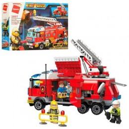 Детский конструктор Qman 2807 Пожарные, 366 деталей