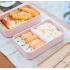 """Ланч-бокс из пшеничного волокна """"Lunch Box 1000 ml"""", розовый. Больше фото фото в интернет-магазине подарков podario.com"""