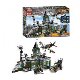 Большой детский конструктор Brick 1714 Штаб Combat Zone, 627 деталей