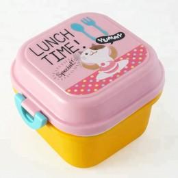 """Набор ланч бокс и бутылочка для воды """"Lunch Time"""" розовый"""