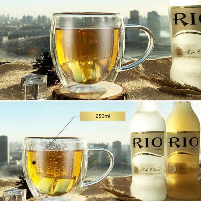 стеклянные чашки с двойными стенками купить