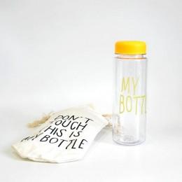 Желтая бутылка My Bottle с чехлом