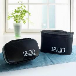 """Комплект термосумка и ланч бокс """"12:00"""" черный"""