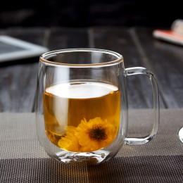 Чашка с двойным стеклом, 350 мл, квадратная ручка