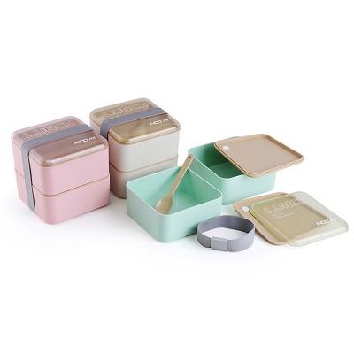 """Ланч-бокс из эко материала """"Lunch Box 1400 ml"""", розовый. Больше фото фото в интернет-магазине подарков podario.com"""