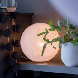 Настольный светильник из ниточного шара, Белая 31 см