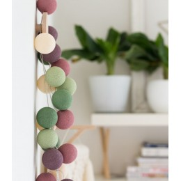 Тайская гирлянда, хлопковые шарики CBL Sage 20 шт, 3.7 м