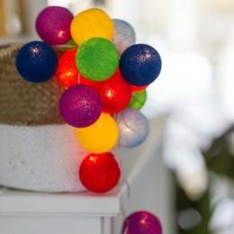 Гирлянда тайские фонарики CBL RAINBOW 20 шариков, 3.7 м