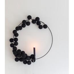 Гирлянда тайские шарики-фонарики CBL Черная 20 шариков, 3.7 м