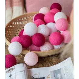 Гирлянда тайские фонарики CBL Розовая 20 шариков, 3.7 м