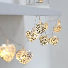 LED гирлянда Сердца золотые 4.2 м, 20 шт