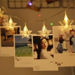 """LED гирлянда с прищепками для фото """"Звезда"""", 10 шт"""