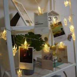 """LED гирлянда с прищепками для фото """"Звезда"""", 20 шт"""