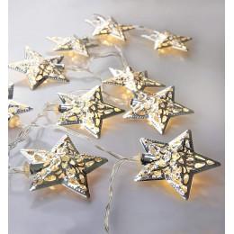 LED гирлянда Звезда золотая 4.2 м, 20 шт