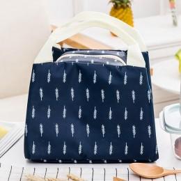 Сумка для ланча (lunch bag) темно-синяя на молнии