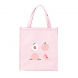 Сумка для ланча (ланч бэг) Fruits персик, розовая