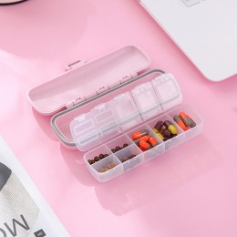 Таблетница ECO Pillbox на 7 отделений, розовая