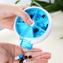 Круглая таблетница Pill Box Синяя